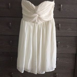 Ivory knot strapless sweetheart dress